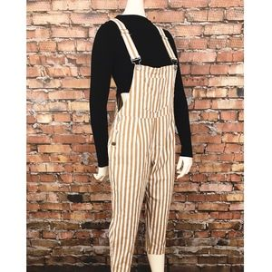 Vintage My Girl Striped Overalls SZ 6